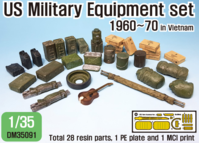 US 60~70eraUS Military Equipment set (for 1/35 tank/ vehicles kit) - Image 1