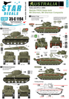 Australia Tanks & AFVs # 6. Matilda Frog Flame tank, M4 Sherman and M4 Sherman Composite.
