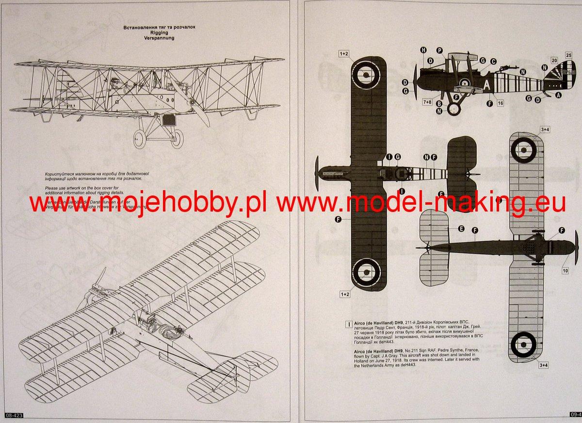 british iww bomber airco de havilland d h 9 roden 423 rh super hobby com