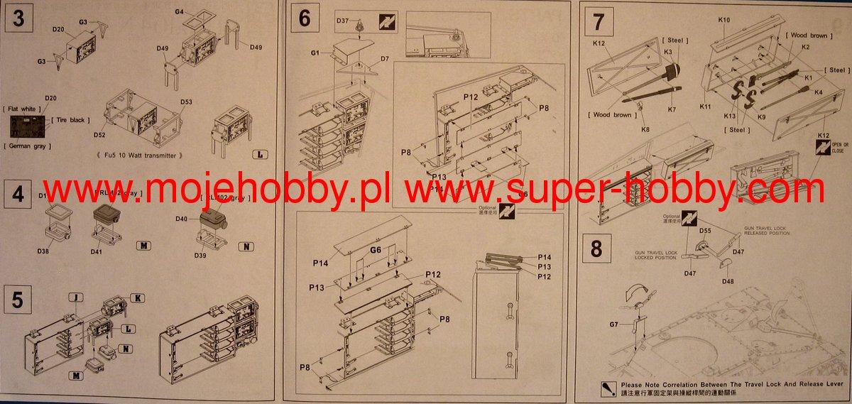 Detail Up Kit For Sdkfz Afv Club 35196-1//35 Dt 164 Nashorn Neu