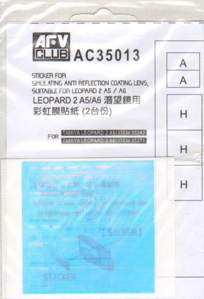 AFV CLUB 35015 Simulating Anti Reflection Sticker for Leopard 2 A6EX in 1:35