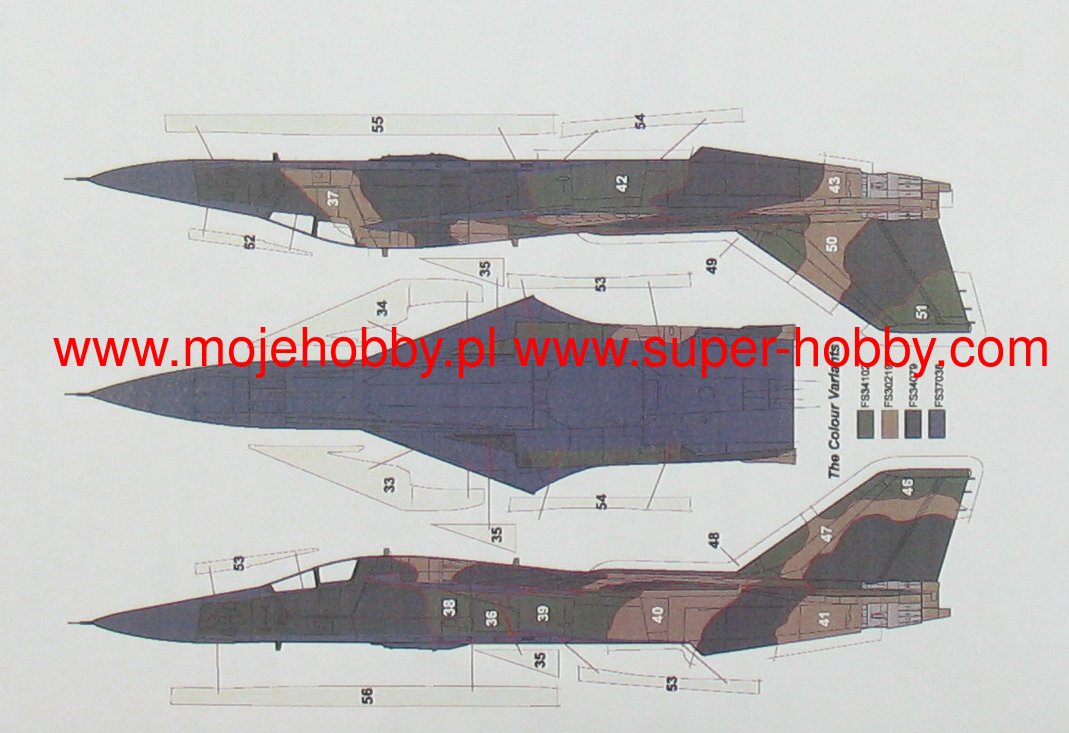 Camoufla AML 1//72 General-Dynamics F-111A Aardvark TFW USAF North Vietnam 1972