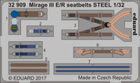 Mirage III E/R seatbelts STEEL   ITALERI - Image 1
