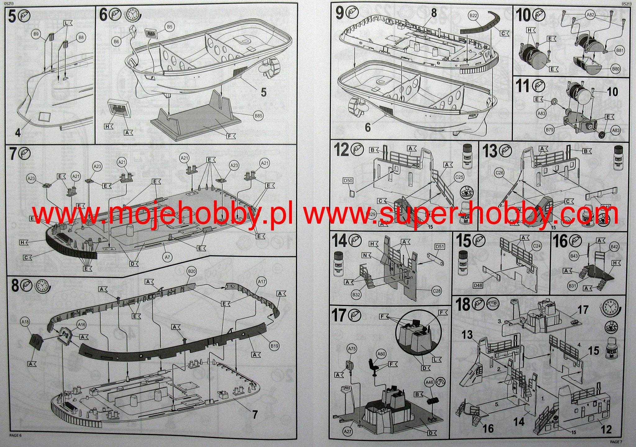 Harbour Tug Boat Model Set Revell 65213 Tugboat Wiring Diagram 2 Rev05213 3