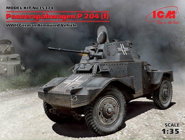 Panzerspähwagen P 204 (f), WWII German Armoured Vehicle