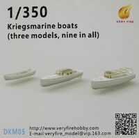 Kriegsmarine boats (three models, nine in all)
