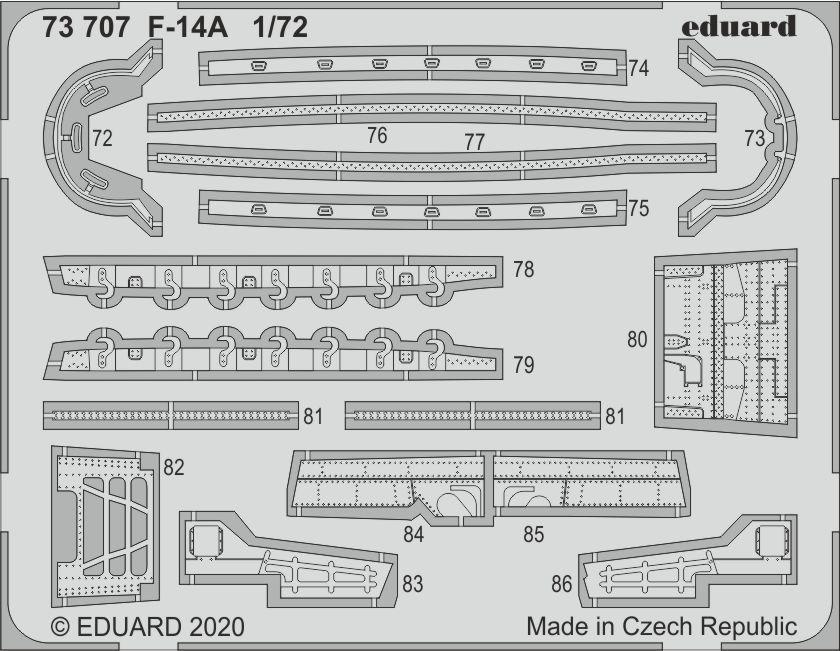 Neu Eduard Accessories 73707-1:72 F-14A for Academy