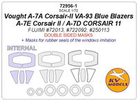 Vought A-7A Corsair-II VA-93 Blue Blazers / A-7E Corsair II / A-7D CORSAIR 11 (Fujimi) -double-sided masks + ma - Image 1