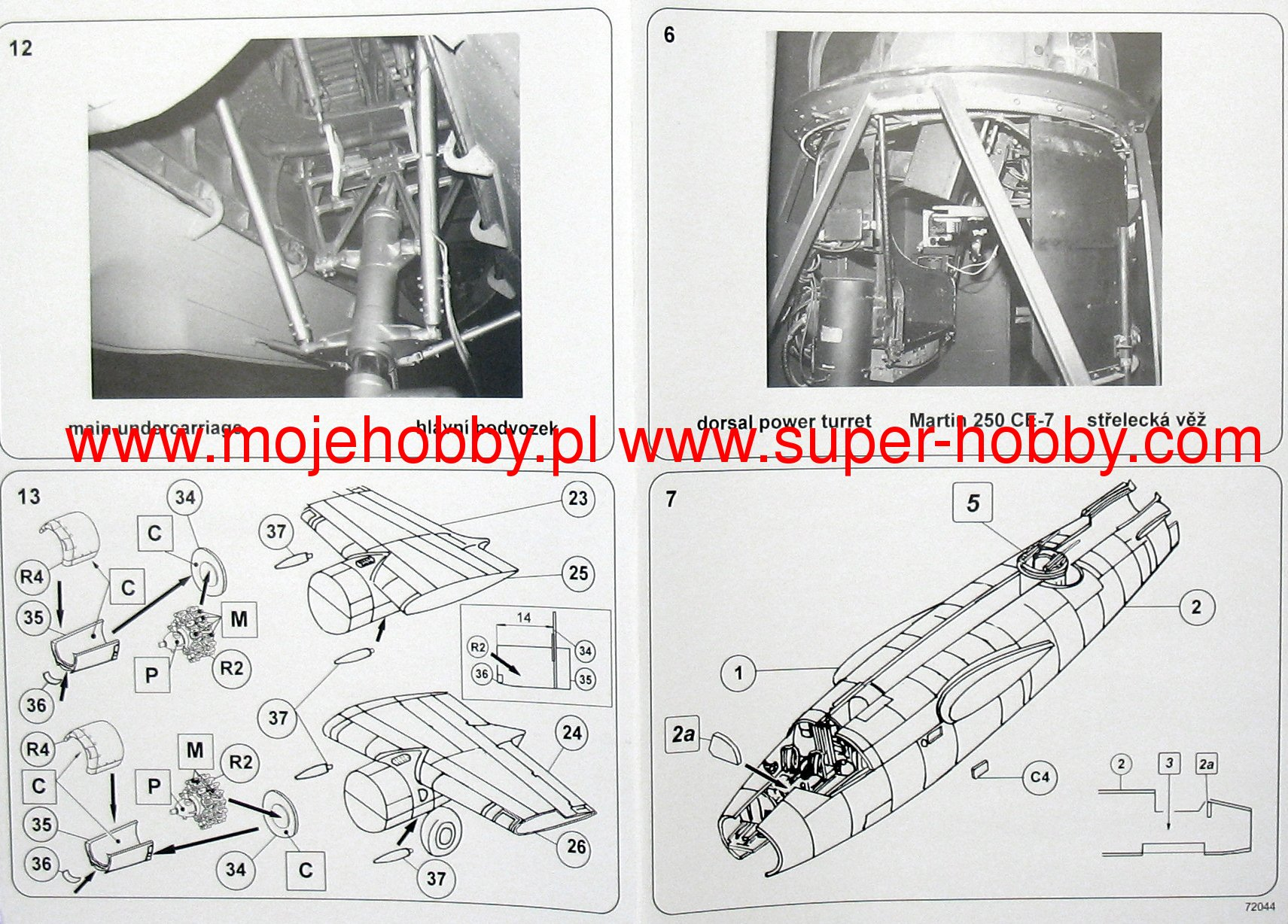 B 26 Marauder Tb Valom 72044 Engine Diagram 2 Vlm72044 8 9