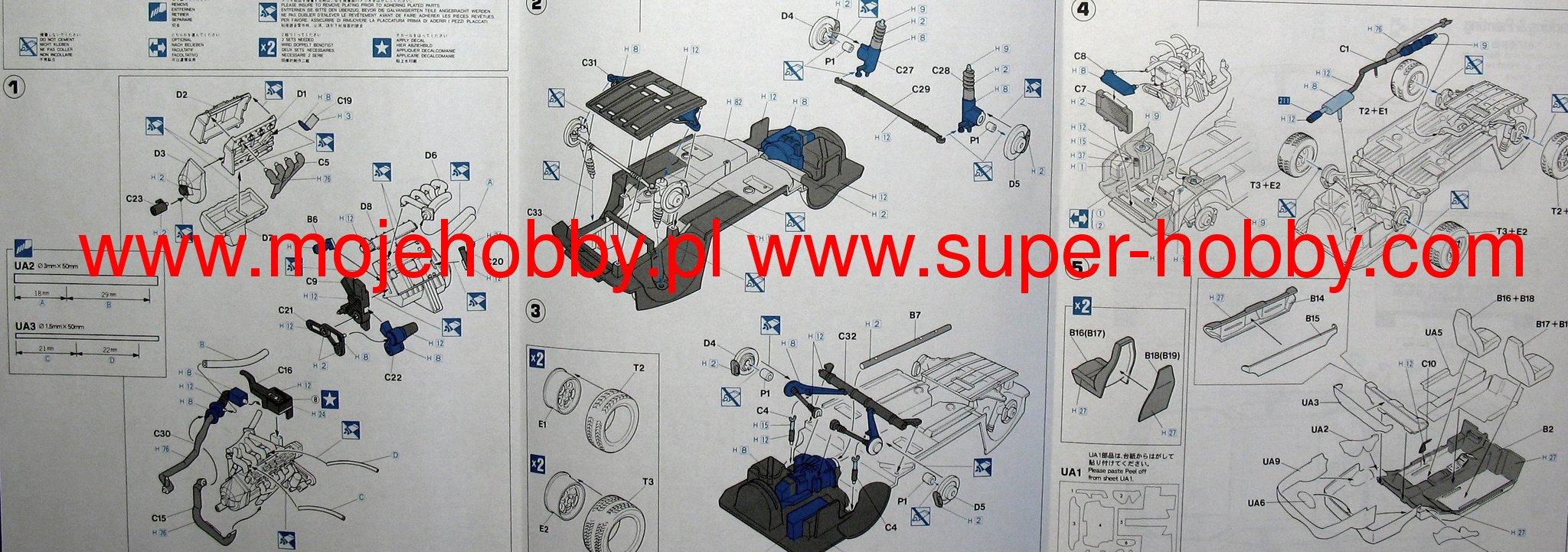 Porsche 944 Turbo Hasegawa 20260 Brakes Diagram 2 Has20260