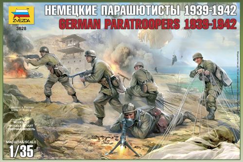 German Paratroopers (CRETE 1941) Zvezda 3628