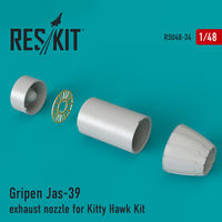 Gripen Jas-39 exhaust nozzle for Kitty Hawk Kit
