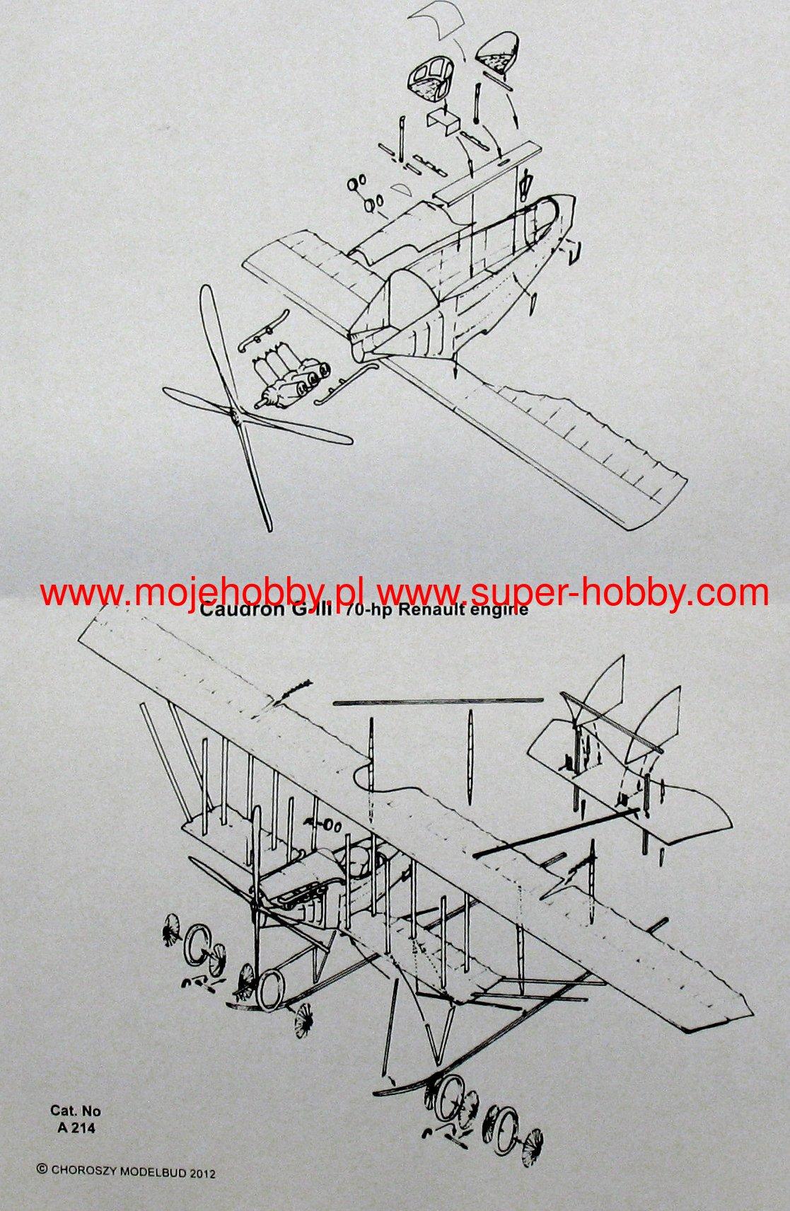 Caudron G Iii Renault Engine Choroszy Modelbud A214 Diagrams