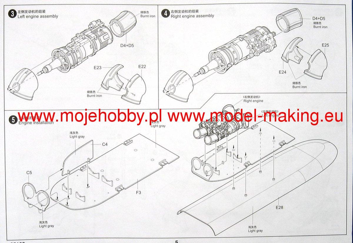 Mil Mi 8mt 17 Hip H Helicopter Trumpeter 05102 Engine Diagram 2 Tru05102 7