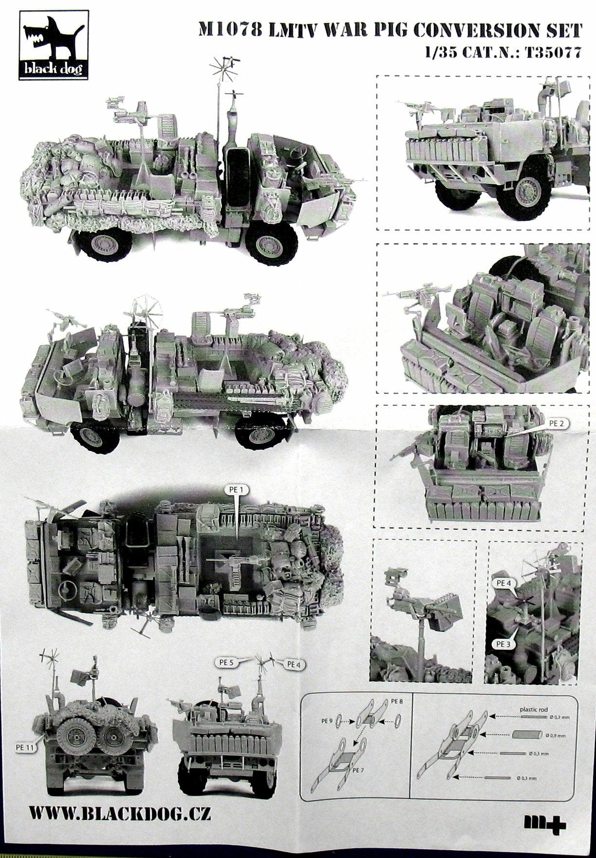 M1078 Lmtv War Pig Plus Humvee Spec F For Trumpeter Plus Tamiya