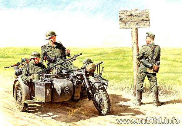 German Motorcyclists 1940-1943 MAS3539 Masterbox 1:35