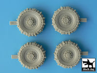 Staghound snowchained wheels set for Bronco kit, 4 resin parts - Image 1