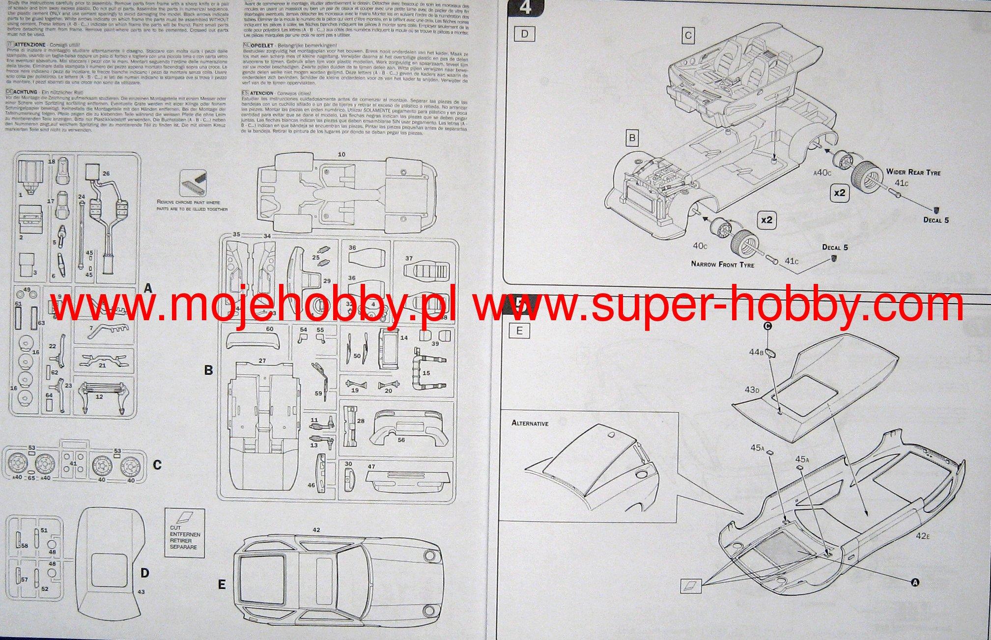 Porsche 928 S4 Italeri 3656 Brakes Diagram 2 Mpm72532 6