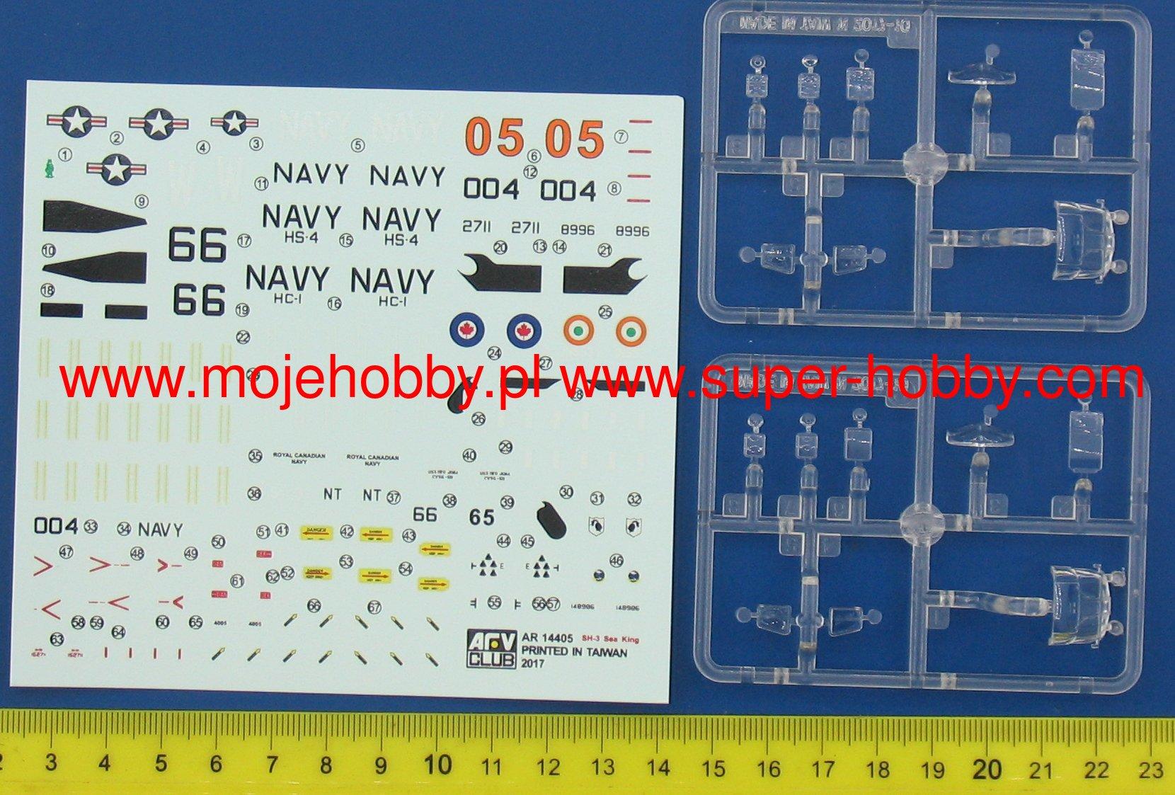 AFV CLUB AR14405 SH-3A//D Sea King in 1:144 2 Kits