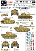 Befehls-Panzers. Bef-Panther  A and G, Bef-Pz IV J, PzKpfw IV  H - Image 1
