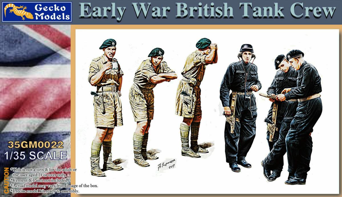 Gecko Models 35GM0022 1//35 Early War British Tank Crew 2019 new
