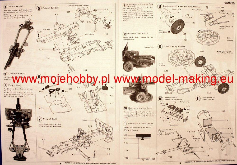 Tamiya BR.25PDR GUN QUAD TRACTOR 1//35-35044