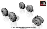 Sukhoj Su-32/34 wheels w/ weighted tires, front mudguard