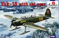 Soviet Yakovlev Yak-18 Tandem Two-Seat Trainer Aircraft on skis