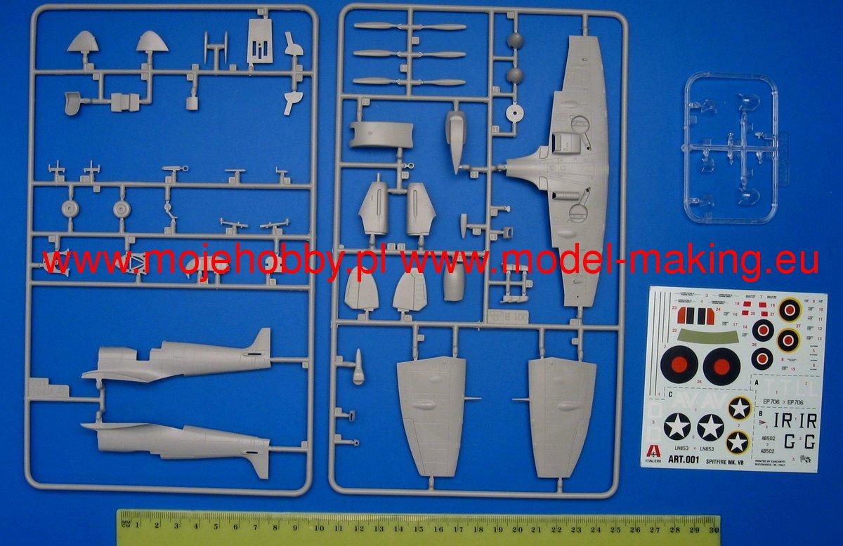 Italeri 2646 1/48 Supermarine Spitfire Mk.XVIe Kit First Look