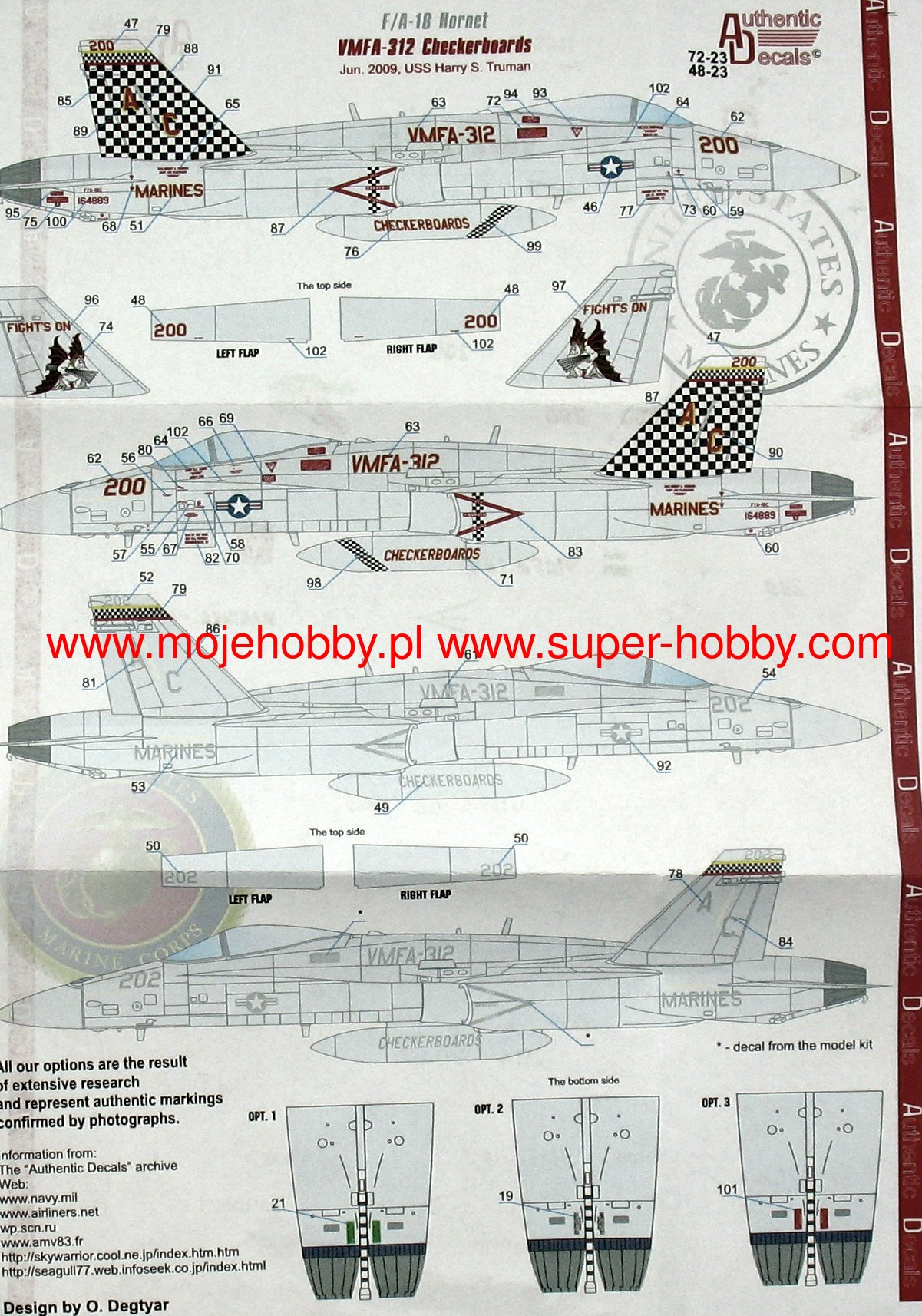 F 18 Hornet Vmfa 142 312 Modern Us Marine Authentic Decals F18 Jet Engine Diagram 2 Atd 72 23 1