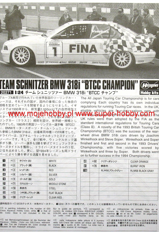 Team schnitzer bmw 318i btcc champion hasegawa 20271 2has202711g geenschuldenfo Image collections