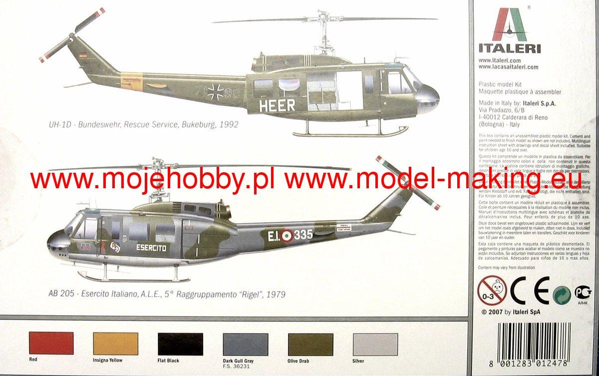 UH-1D SLICK Italeri 1247