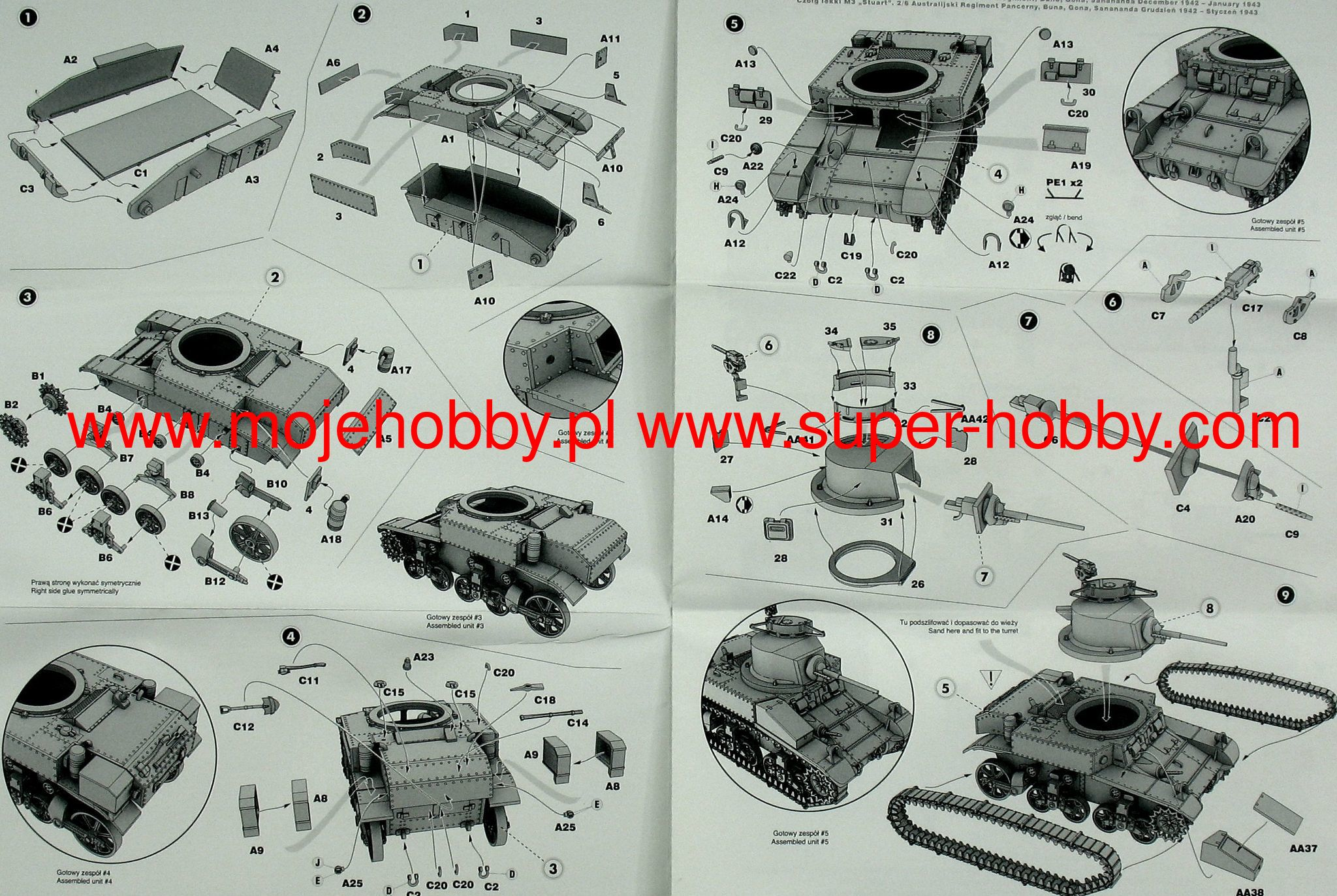 Mirage Hobby 726069-1:72 M3 STUART Light Tank 2//6th Australian Armoured Regime