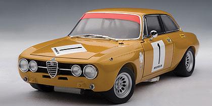 Alfa Romeo GIULIA   GT AM  #1 JARAMA 1970 HEZEMANS  AUTOART 87003 1//18