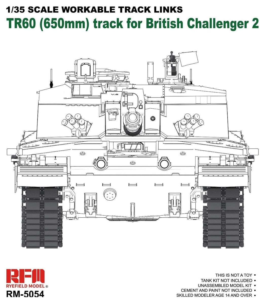 TR60 (650mm) track for British Challenger 2 - Image 1