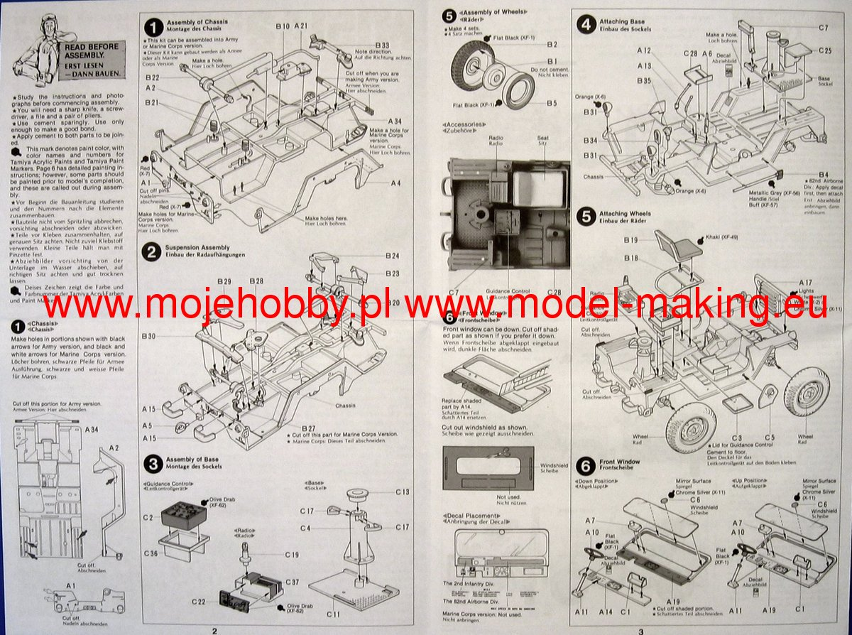 us m151a2 w tow missle launcher tamiya 35125 rh super hobby com Light Switch Wiring Diagram Wiring Diagram Symbols