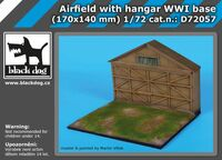 Airfield with hangar WW I base