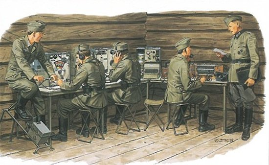 GERMAN COMMUNICATIONS CENTER w/SIGNAL TROOPS