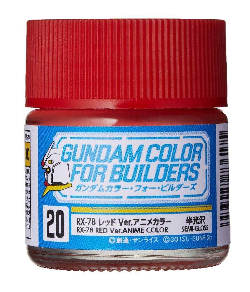 UG20 RX-78 Red Ver. ANIME COLOR (Semi-Gloss) - Image 1