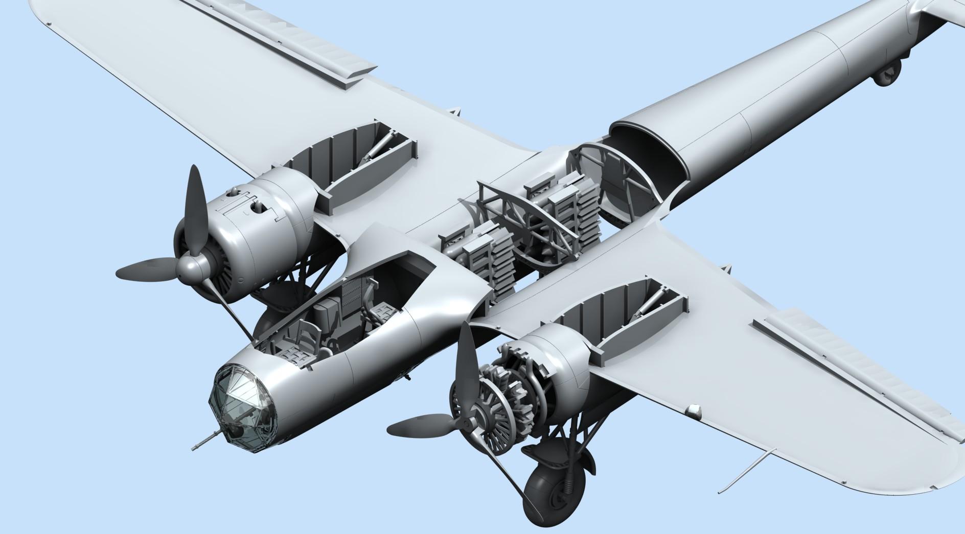 Do 17Z-2, WWII German Bomber ICM 72304