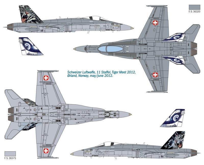 F/A-18 Hornet Tiger Meet 2012 Italeri 1347