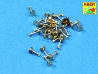 Turned imitation of Hexagonal bolts 1,55mm x 30pcs.