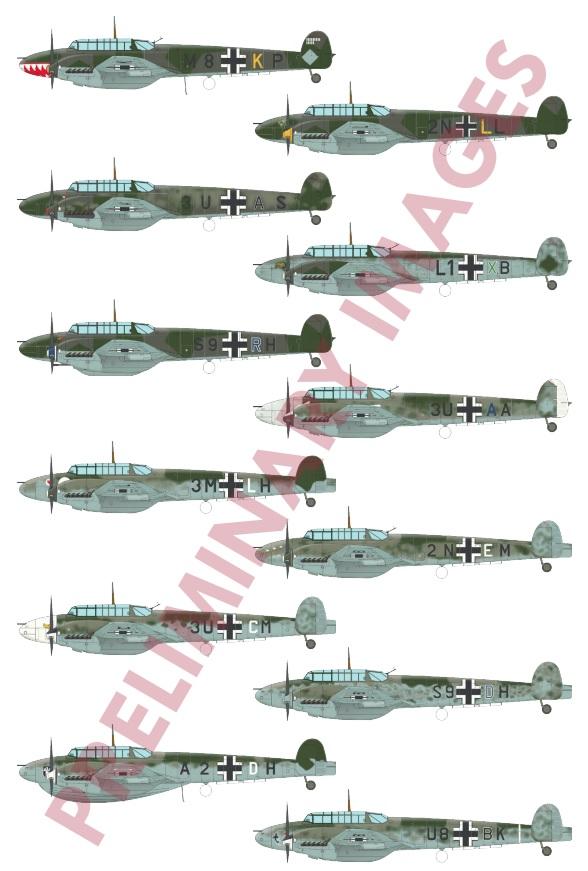 Eduard Adlertag Messerschmitt BF 110C//D Battle of Britain Kit 1:48 Art 11145