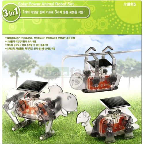 Solar Power Animal Robot Set 3 in 1 Education Model Kit - Image 1