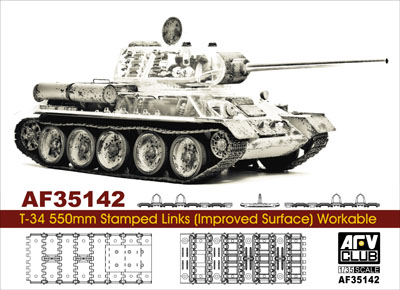 ET 1//72 Soviet T-34 550mm Stamped Track Links Type 1941