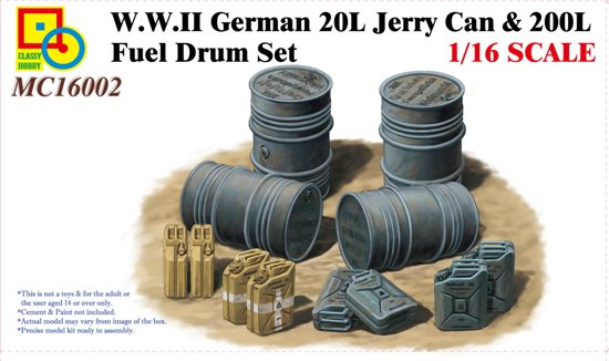 WWII German 20 L Jerry can & 200 L fuel - Image 1
