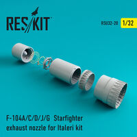 F-104 Starfighter (A/C/D/J/G) exhaust nozzle for Italeri Kit