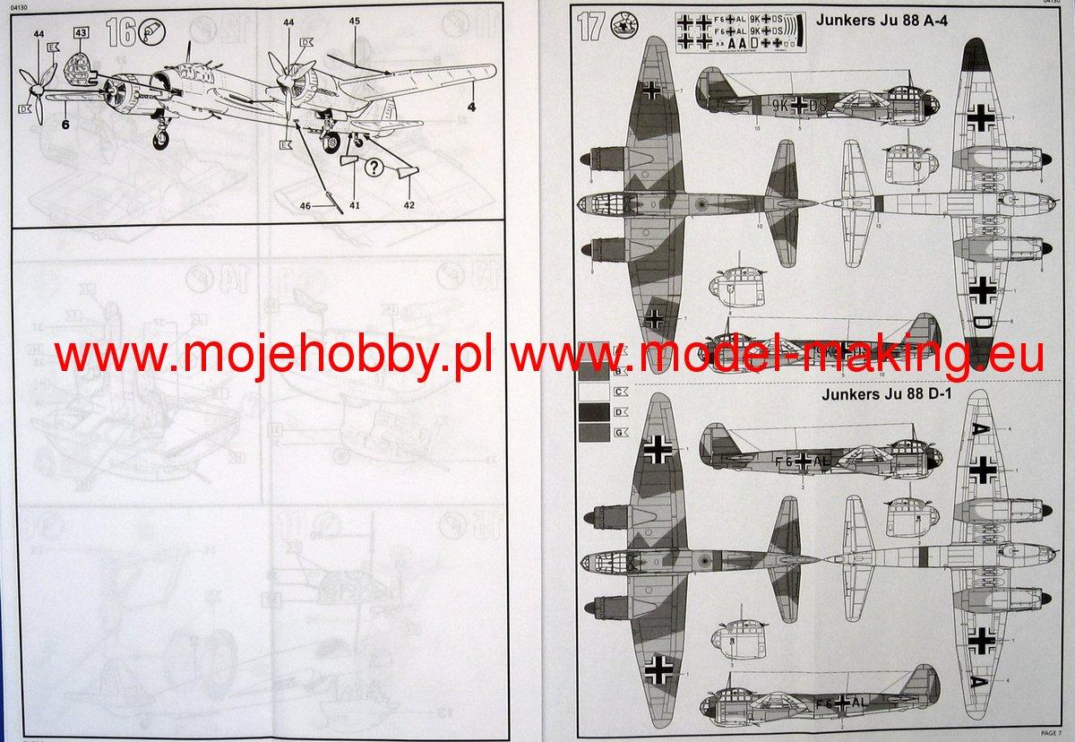 D1 Revell 04130 1:72 Junkers Ju-88 A-4