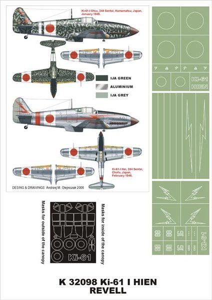 1:32 Revell MONTEX K32098 Kawasaki Ki-61 I Hien
