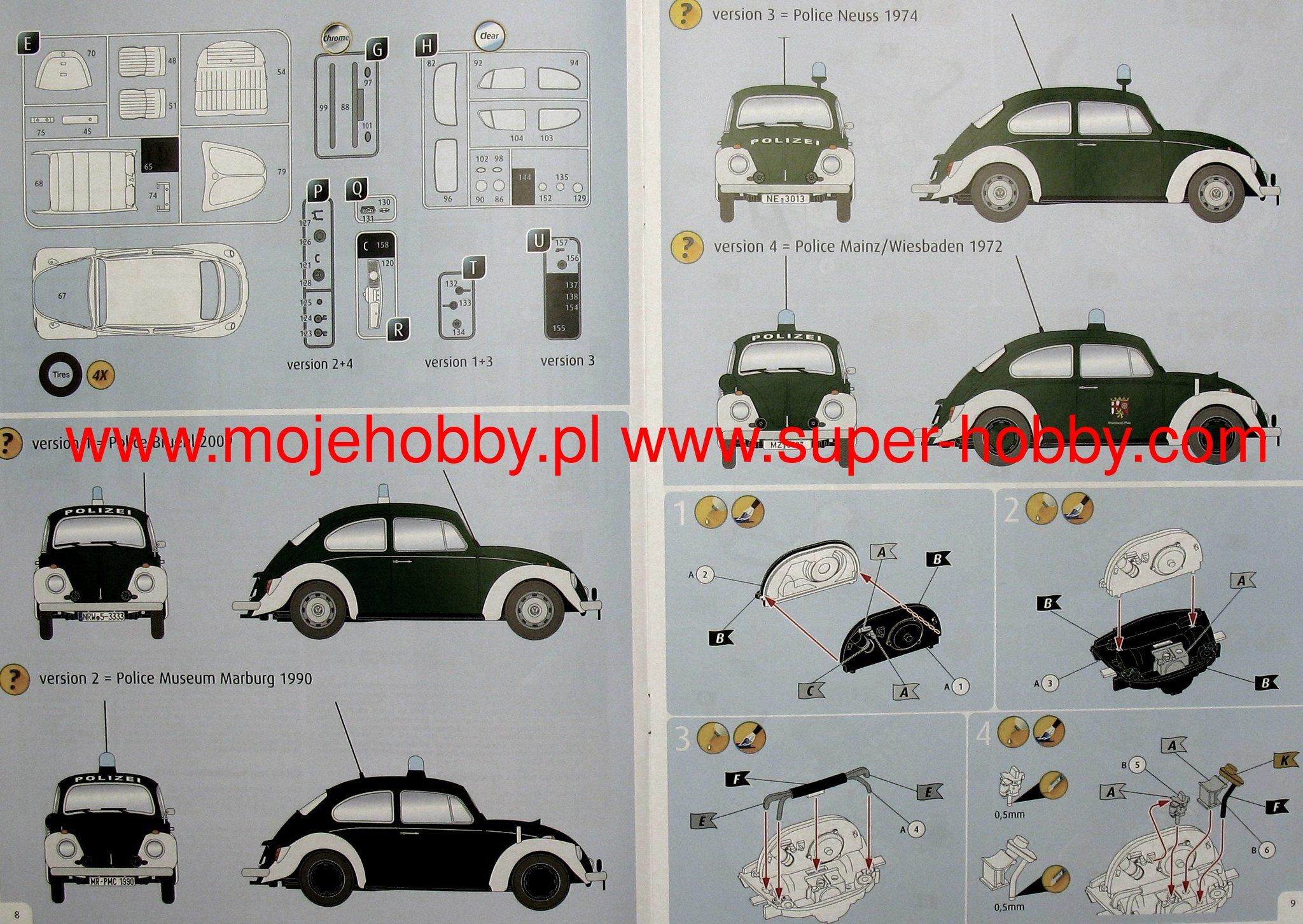 "Revell 07035 1:24 VW Beetle /""Police/"""